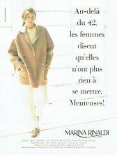 Publicité Advertising  0817 1996   Marina Rinaldi  pret à porter  veste pantalon