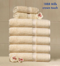 3 NEW BEIGE 1888 MILLS CROWN TOUCH 27X54 PREMIUM HOTEL SPA RESORT BATH TOWELS