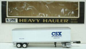 K-Line K611781 CSX Heavy Hauler Trailer LN/Box