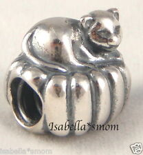 COZY CAT Authentic PANDORA Sterling Silver KITTY ON A PILLOW Pet Charm/Bead NEW