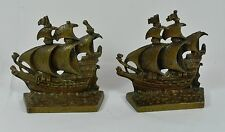 Cast Brass Nautical Bookends ~ Old English ~