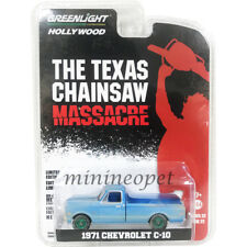 GREENLIGHT 44820 B THE TEXAS CHAINSAW MASSACRE 1971 CHEVY C-10 1/64 BLUE Chase