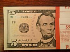 NEW 2013 $5 US Currency Bundle 100 Sequential Serial Number FIVE Dollar Bills