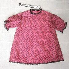 Vintage Girls Pochicks Dress - 4 Years Approx - Cerise Pink - Black Lace -  New