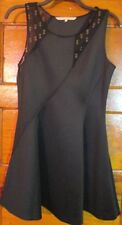 RACHEL ROY BLACK  A-LINE DRESS SIZE 14 SIDE ZIPPER 93% POLYESTER 7% SPANDEX