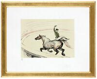"Fine Toulouse Lautrec ""Haute école' Hand Numbered 15/20 Lithograph Unframed COA"