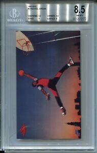 1985 Nike Basketball #2 Michael Jordan Rookie Card RC Graded BGS NM MINT+ 8.5