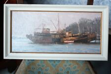 Superb Marine oil painting signed Peter Archer