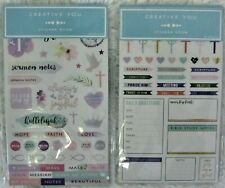 2 Pkgs.Creative You Sticker Books 20 Sheets Each Faith Religious Bible Study EB1