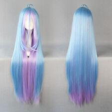 90cm multi-color Long no game no life Shiro Anime Cosplay Costume Wig