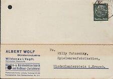 WILDENAU, Postkarte 1940, Bürstenindustrie Albert Wolf