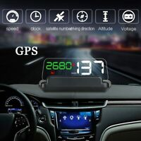 Car GPS Speed HUD W/ Reflection Board Head Up Display Speedometer Car Projector