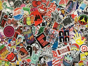 Lot de 200 stickers rock, skate, doodle, vinyl, musique, graffiti, héros, cool