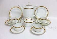 More details for 1960s tirschenreuth bavarian porcelain part coffee set for 4 with side plates