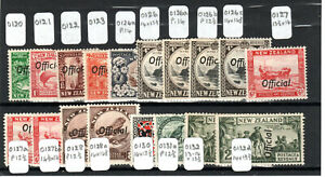 New Zealand 1935-61 Official opt values to 2s + perf variations MLH/MH
