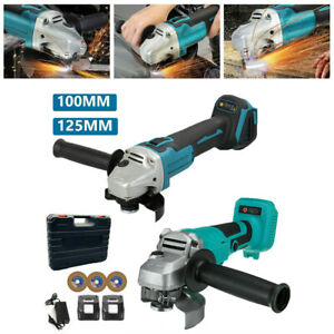 100/125mm 18V Brushless Angle Grinder Cordless Replace For Makita Li-ion Battery