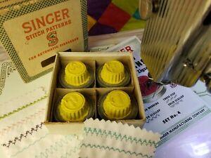 Singer Automatic Zigzagger Stitch Pattern Design Cams Yellow Tops Box Set No. 4