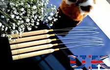 5 X LEGNO Pull Loop needle threader per Micro Anelli Estensioni Capelli Venditore UK Seller