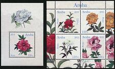 Aruba 2011 Pfingstrosen Peonies Blumen Blüten 575-578 Block 14 Postfrisch MNH