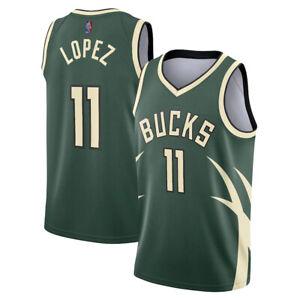 Mens Milwaukee Bucks Earned Edition Swingman Jersey - Brook Lopez