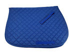 Royal Blue Heavy Duty Quilted Cotton All Purpose English Saddle Pad Horse Tack