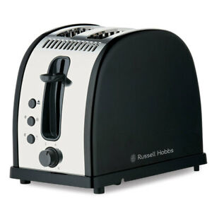 Russell Hobbs Brighton 2-Slice Electric Bread Toaster/Toast Stainless Steel BLK