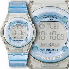 Casio BG-1302-2ER Baby-G Shock And Storage Tin Blue Water Resistant Ladies Girls