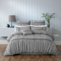 Bianca Giana Quilt Cover Set Grey