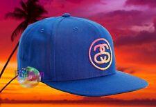 New Stussy SS Link Fade Blue Mens Snapback Cap Hat