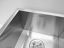 """Small Cabinet Kitchen Sink 29"""" Dbl, 16 Gauge Zero Radius Stainless Steel-2918BD+"""