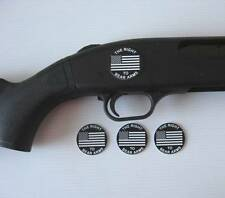 DURABLE Plastic DECALS 4-PK Shotgun Rifle RIGHT TO BEAR ARMS fits Remington 870