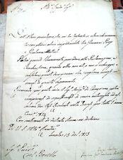 1823 LETTERA DA IMOLA DI GIOACCHINO TAMBURINI VESCOVO NARNI E CERVIA NAPOLEONE