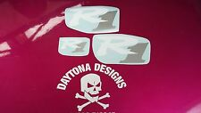 R1 WHITE & SILVER SET NOSE CONE & SEAT UNIT DECALS STICKERS GRAPHICS