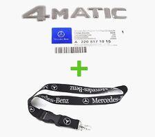 Mercedes Benz 4MATIC Emblem Badge Logo & Mercedes-Benz Lanyard 22 Inch