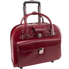 McKleinUSA 96316 EDGEBROOK Wheeled Ladies' Laptop Case - Red New