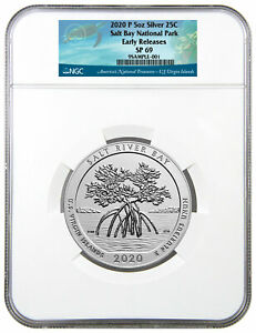 2020 P Salt River Bay NP Ecological Preserve 5 oz Silver ATB NGC SP69 ER