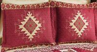 SET 2 Southwest AZTEC Native INDIAN Design PILLOW SHAMS Bedding Twin Full Queen