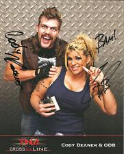 Ps017 Cody Deaner & Odb signed Tna Promo w/Coa