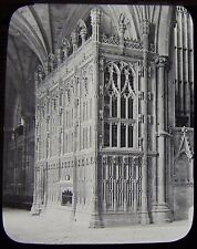 Glass Magic Lantern Slide WINCHESTER CATHEDRAL FOXS CHANTRY C1890 PHOTO ENGLAND