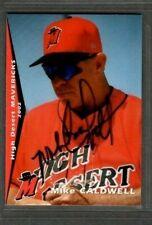 2002 Grandstand #33 Mike Caldwell High Desert Mavericks Signed Autograph (C65)