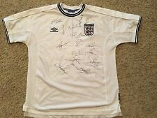 Signed England Soccer Football Jersey Squad Signed David Beckham And More