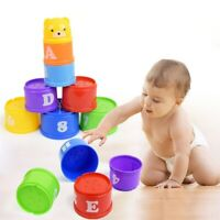 Stacking Cups Plastic Baby Stacking Cups Educational Toddler Toys Blocks Kit AM3
