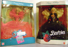 Lot of 2 NIB Stunning Special Edition 1990 & 1991 Happy Holidays Barbie