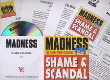 MADNESS - SHAME AND SCANDAL - UK CDR PROMO WITH 4 PAGES OF PRESS INFO - SUGGS