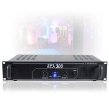 """SPL 300W 2 Channel Power Amplifier DJ Party Disco PA Hi-Fi Amp 19"""" 2U Rack Mount"""