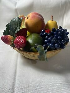 So Scrumptiously Realistic: Artificial Fruit in Wooden wicker Basket Looks Real