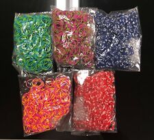 5400 ( 9x600 ) Rainbow Color Loom Refill Rubber Bands With S Clips