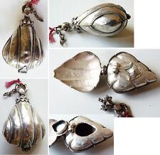 Boite à Bethel ou à Khol en argent massif ethnique silver pendant