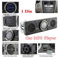 In-Dash Dual Speaker 1 Din Bluetooth Car FM Stereo Radio Audio MP3 Player Aux-in