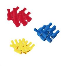 Winkelflachsteckhülsen blau vollisoliert 1,5-2,5mm 6,3x0,8 10 Stück